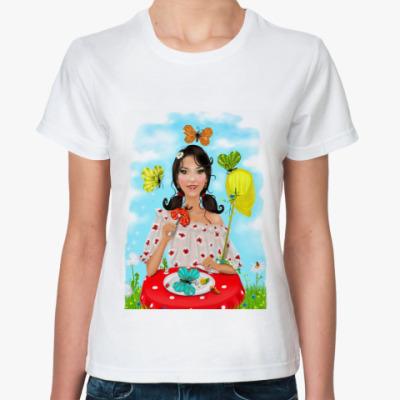 Классическая футболка Бабочки в моём животе