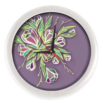 Настенные часы Glowing flowers