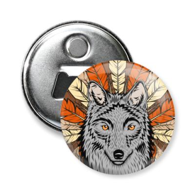 Магнит-открывашка Волк, wolf