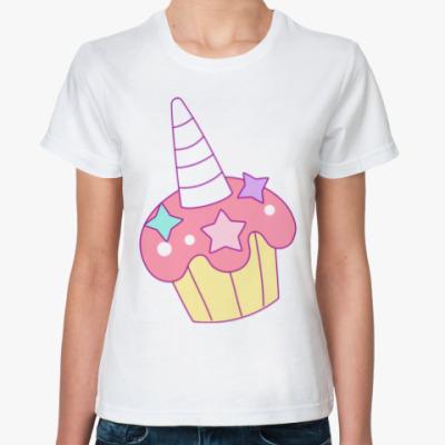 Классическая футболка Кекс Единорог