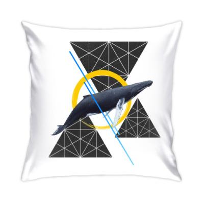 Подушка Кит геометрия