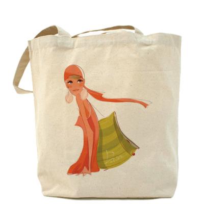Сумка Холщовая сумка Девушка №5