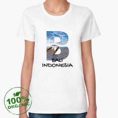 Женская футболка из органик-хлопка Океан, Бали, Индонезия