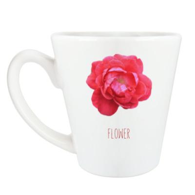 Чашка Латте Цветочек
