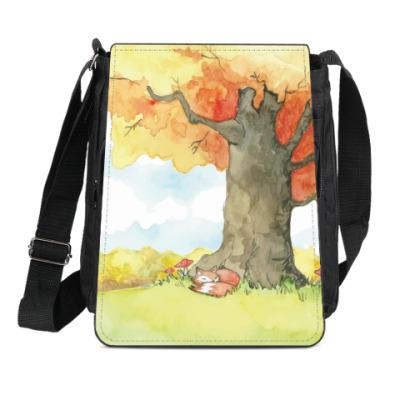 Сумка-планшет Лисенок в осеннем лесу