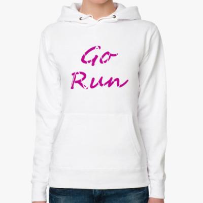 Женская толстовка худи Go Run (pink)