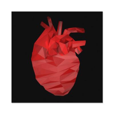 Наклейка (стикер) Сердце 3D