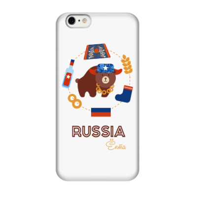 Чехол для iPhone 6/6s Russia, Ёпта
