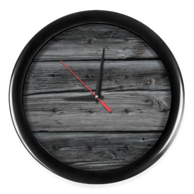 Настенные часы Темное дерево