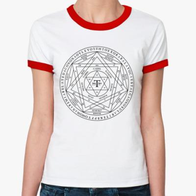Женская футболка Ringer-T  Печать Соломона