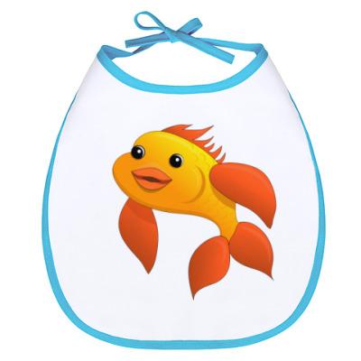 Слюнявчик Рыбка