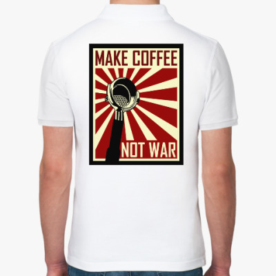 Рубашка поло Make Coffee Not War