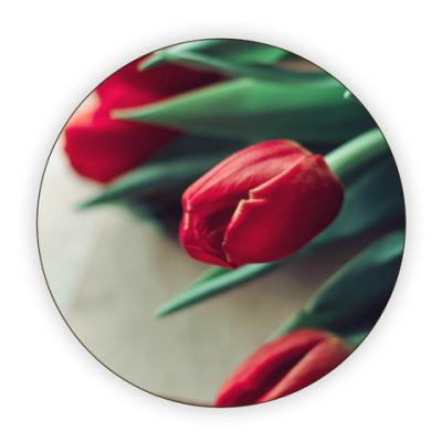 Костер (подставка под кружку) Тюльпаны