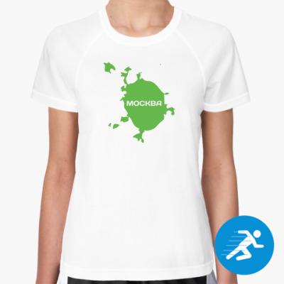 Женская спортивная футболка Москва