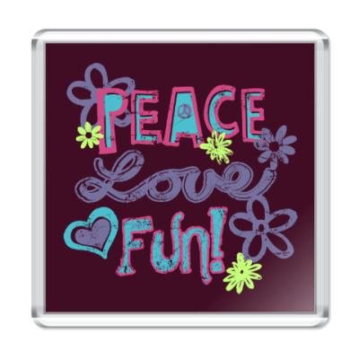 Магнит Мир, Любовь, Веселье!