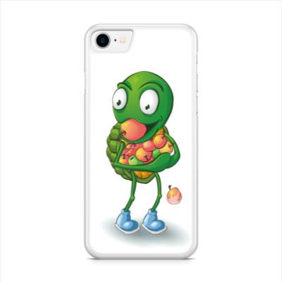 Чехол для iPhone Добрый Черепашонок с яблоками