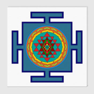 Холст Шри-янтра для медитаций