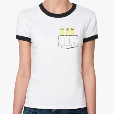 Женская футболка Ringer-T Котики в кармане