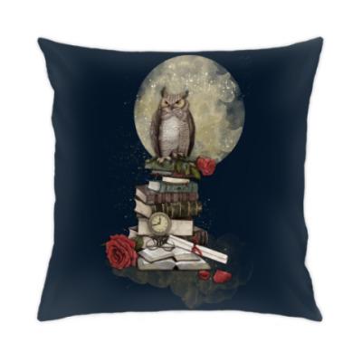 Подушка Мудрая сова и книги