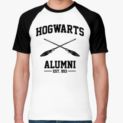 Футболка реглан Hogwarts Alumni