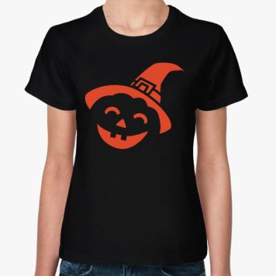 Женская футболка Тыква на Хэллоуин
