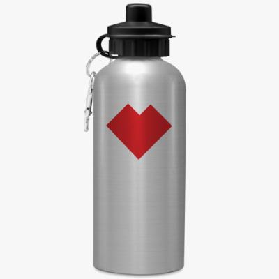 Спортивная бутылка/фляжка Сердце танграм