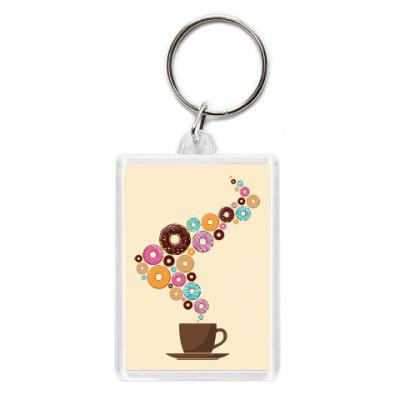 Брелок Кофе с пончиками