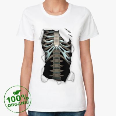 Женская футболка из органик-хлопка 'Скелет'