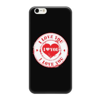 Чехол для iPhone 6/6s Печать I Love You
