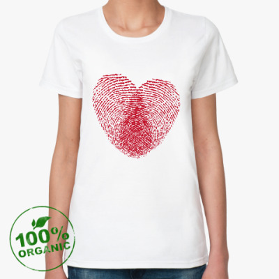Женская футболка из органик-хлопка Отпечатки Любви