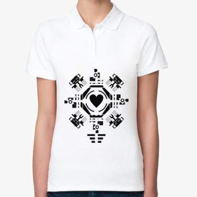 Женская рубашка поло Обезьянье сердце