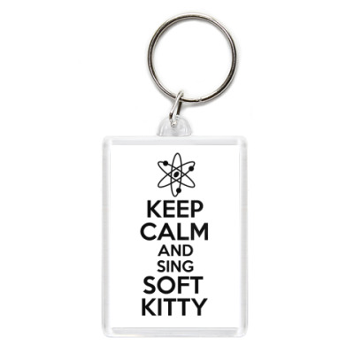 Брелок Keep calm and sing SOFT KITTY