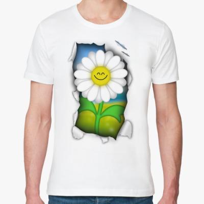 Футболка из органик-хлопка 'Цветок'