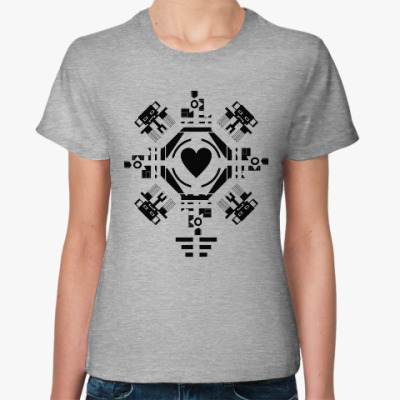 Женская футболка Обезьянье сердце
