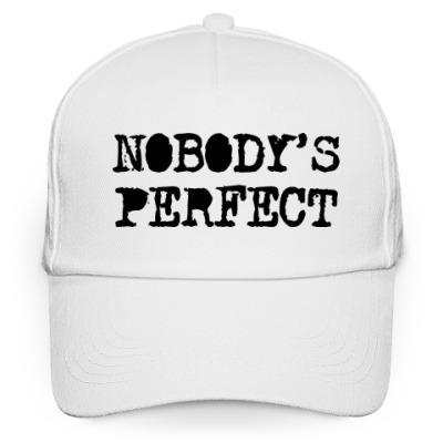 Кепка бейсболка Надпись Nobody's perfect