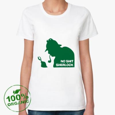 Женская футболка из органик-хлопка Шерлок