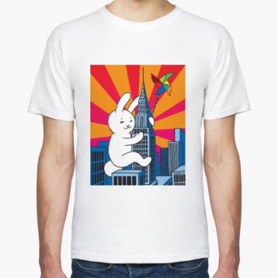 Футболка rabbit on the tower