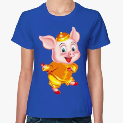 Женская футболка Год Свиньи