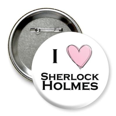 Значок 75мм  'Шерлок Холмс'