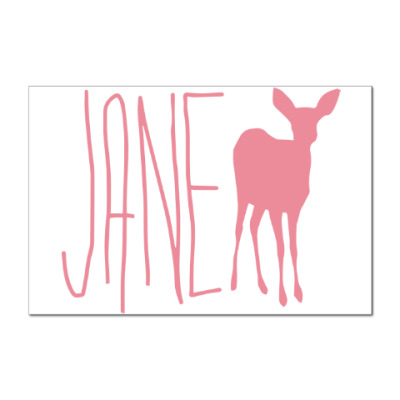 Наклейка (стикер) JANE DOE