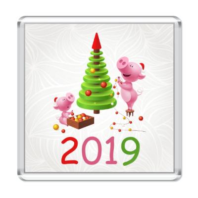 Магнит Свинья 2019
