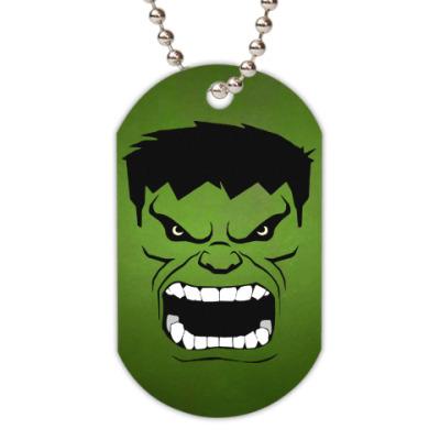 Жетон dog-tag Hulk