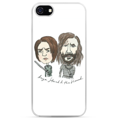 Чехол для iPhone Arya Stark & the Hound