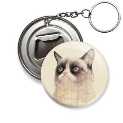 Брелок-открывашка Grumpy Cat / Сердитый Кот
