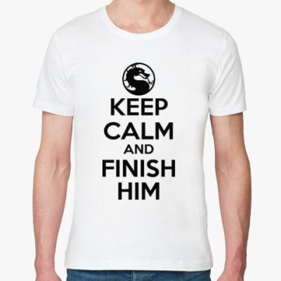 Футболка из органик-хлопка Keep calm and finish him