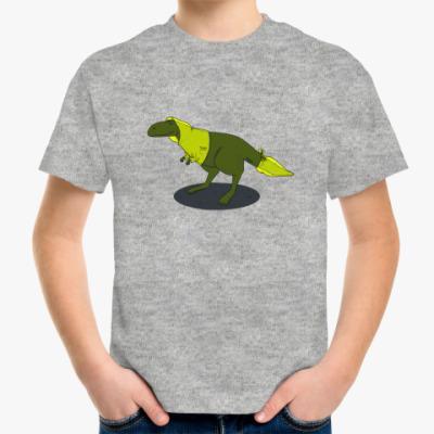 Детская футболка  Скептический тираннозавр