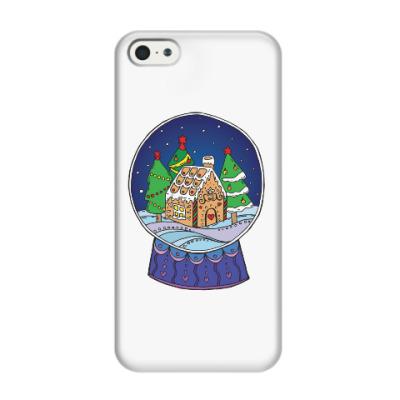 Чехол для iPhone 5/5s Снежный шар