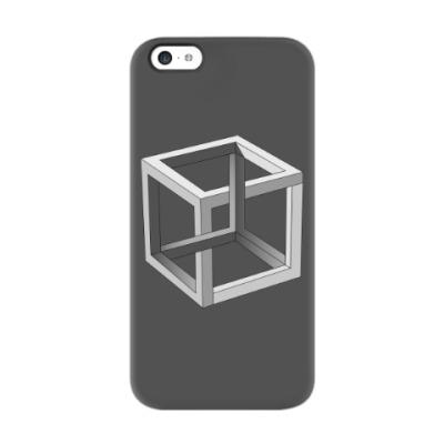 Чехол для iPhone 5c Невозможный Куб 3D