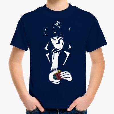 Детская футболка Шерлок Холмс и кубик рубика