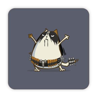 Костер (подставка под кружку) Металкот — Пятничный Котик №29